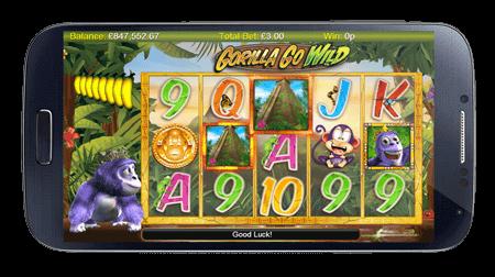 Unglaublich sogar der neuste Spielautomat Gorilla Go Wild ist in der SlotsMillion Casino App verfügbar.