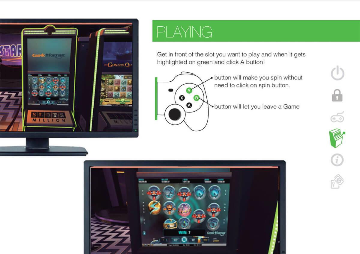 Slots Spielen in Virtual Reality auf Slotsmillion mit Game Pad
