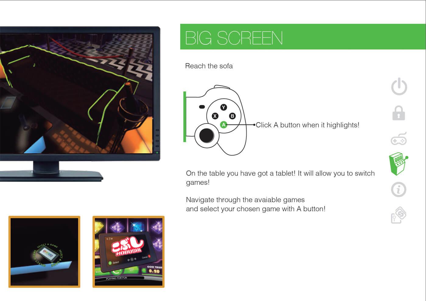 Virtual Realit Games auf einem Big Screen spielen