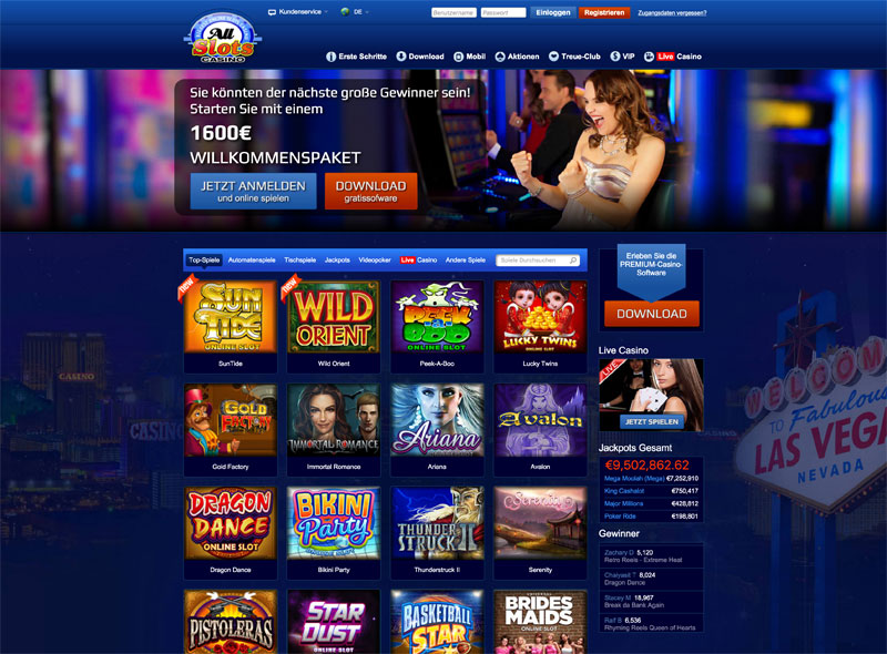 All Slots Casino das Deutsche Online Casino mit Tradition