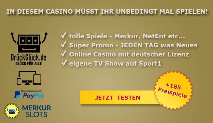 Drück Glück Casino das Deutsche Online Casino mit Tradition